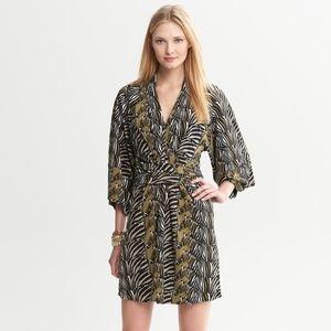 Banana Republic Issa London Zebra Wrap Dress